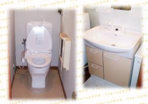 ジャニスのトイレとINAXオフト洗面台